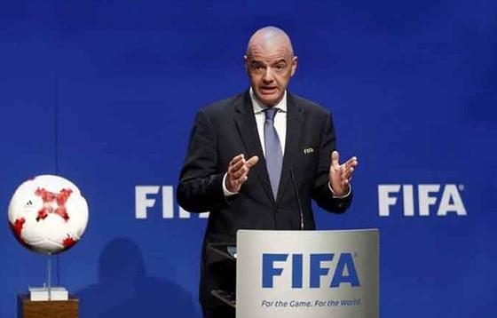 Chủ tịch FIFA, Gianni Infantino đã không thành công với ý tưởng của mình. Ảnh: Getty Images