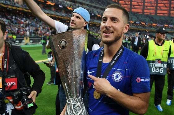 Eden Hazard đã sẵn sàng chia tay Chelsea sau danh hiệu Europa League thứ 2. Ảnh: Getty Images