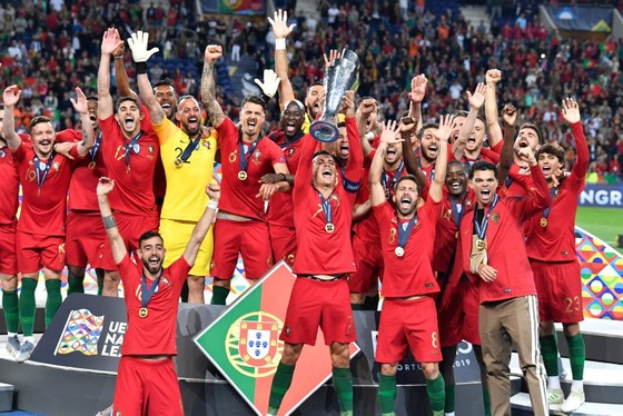 Bồ Đào Nha trở thành đội đầu tiên giành chức vô địch UEFA Nations League. Ảnh: Getty Images