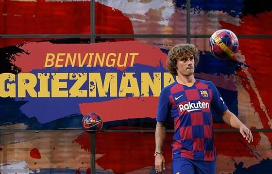 Antoine Griezmann chính thức ra mắt ở Barcelona. Ảnh: Getty Images