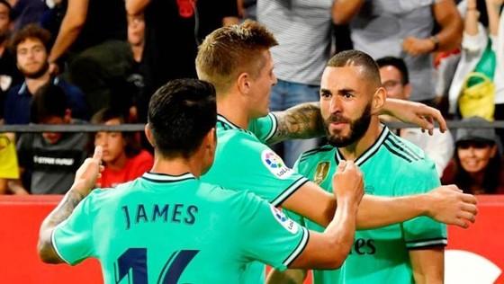 Karim Benzema tiếp tục phong độ ghi bàn rất tốt ở mùa này. Ảnh: Getty Images