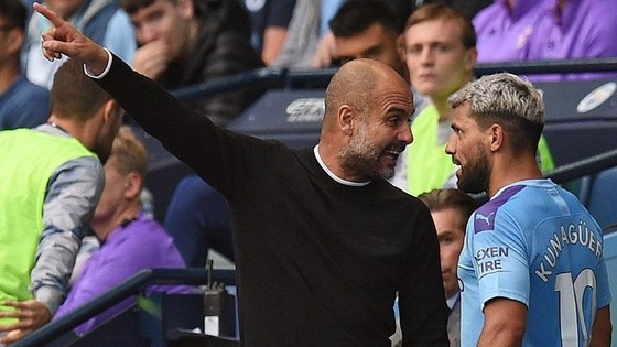 HLV Pep Guardiola và Sergio Aguero từng phải to tiếng với nhau. Ảnh: Getty Images