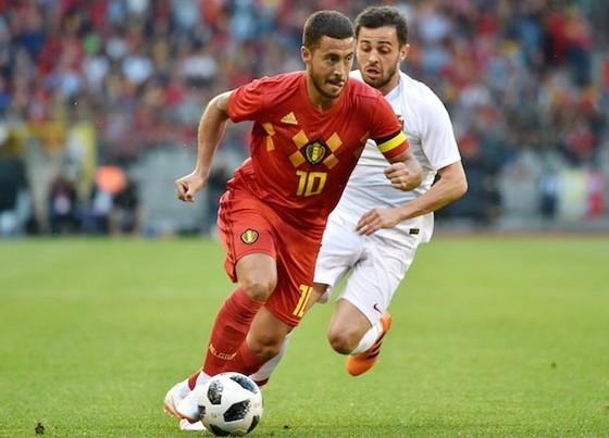 Eden Hazard vẫn là ngôi sao tấn công số 1 của tuyển Bỉ. Ảnh: Getty Images