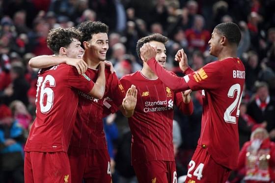 Liverpool chiến thắng bằng các cầu thủ trẻ lạ lẫm. Ảnh: Getty Images