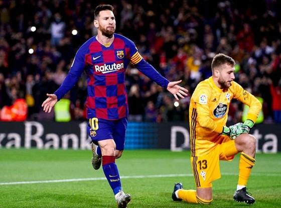 Lionel Messi tiếp tục chinh phục mọi cột mốc ghi bàn. Ảnh: Getty Images