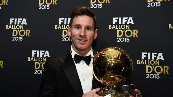 Lionel Messi và lần cuối cùng giành Quả bóng vàng năm 2015. Ảnh: Getty Images