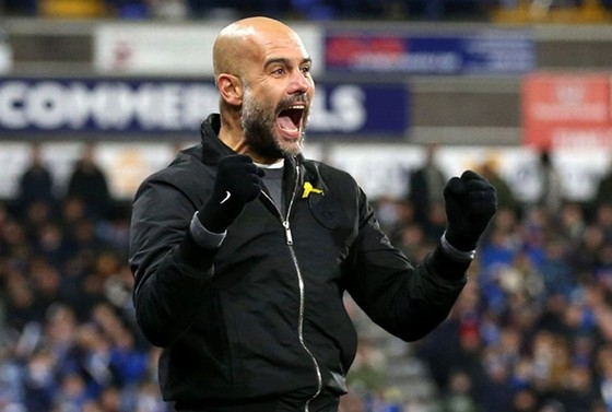 HLV Pep Guardiola tuyên bố tham vọng của ông tại Man.City vẫn chưa hoàn thành. Ảnh: Getty Images