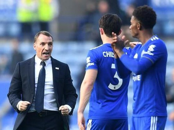 HLV Brendan Rodgers đang tận hưởng thành công cùng Leicester. Ảnh: Getty Images