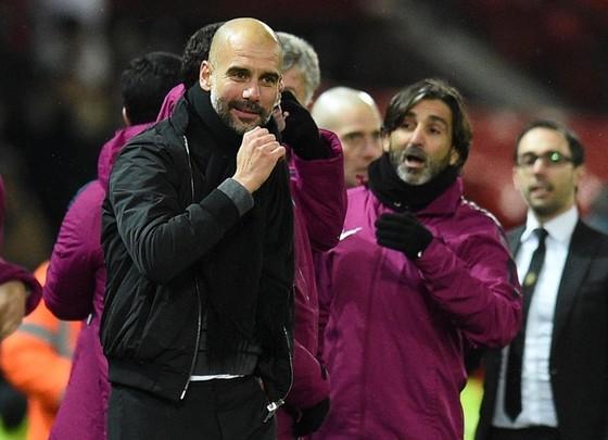 Pep Guardiola khẳng định đã hoàn thành thử thách lớn nhất là giúp Man.City chơi bóng như Barcelona. Ảnh: Getty Images