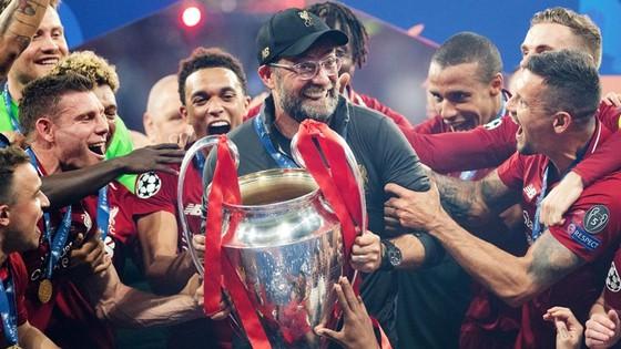 Liverpool sau khi đăng quangg  Champions League vào tháng 6. Ảnh: Getty Images