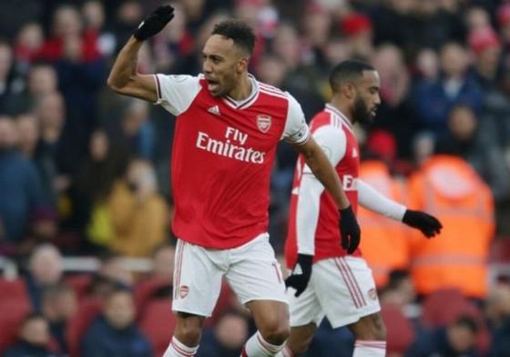 Pierre-Emerick Aubameyang đã công khai cam kết tương lại cùng Arsenal. Ảnh: Getty Images