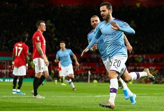 Man.City đã đặt gần như 2 chân vào chung kết. Ảnh: Getty Images