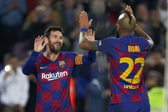 Lionel Messi chạm đến một cột mốc đáng nhớ khác trong sự nghiệp lừng lẫy. Ảnh: Getty Images