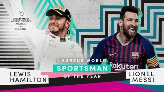 Lionel Messi và Lewis Hamilton chia sẽ giải thưởng Laureus World Sportsman.