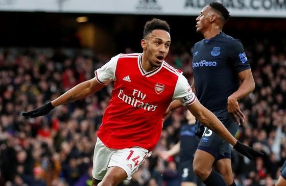 Pierre-Emerick Aubameyang tiếp tục là điểm sáng duy nhất của Arsenal. Ảnh: Getty Images