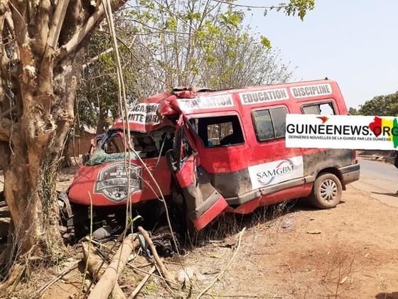 Hiện trường vụ tai nạn. Ảnh: Guineanews