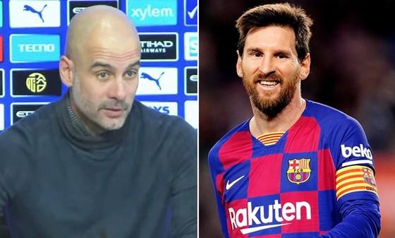 Lionel Messi và HLV Pep Guardiola chung tay chống dịch.