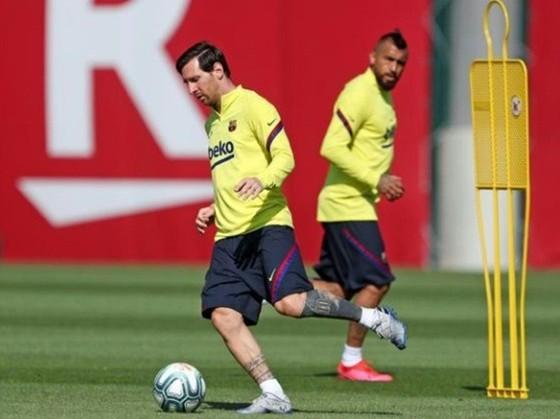 Lionel Messi tập luyện bình thường từ đầu tuần.