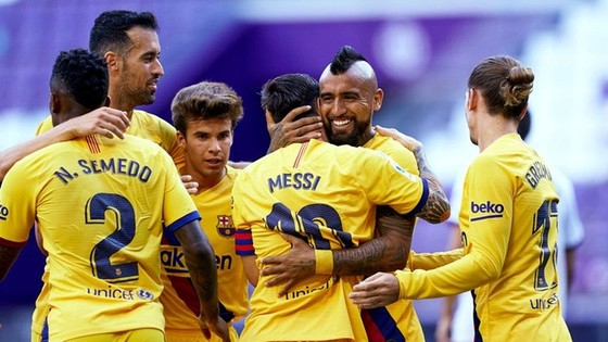 Thể lực sa sút khiến Barca không còn làm nên những chiến thắng thuyết phục. Ảnh: Getty Images