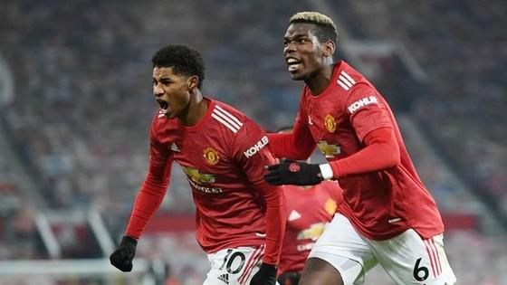 Marcus Rashford ghi bàn thắng hệ trọng giúp Quỷ đỏ lên nhì bảng. Ảnh: Getty Images