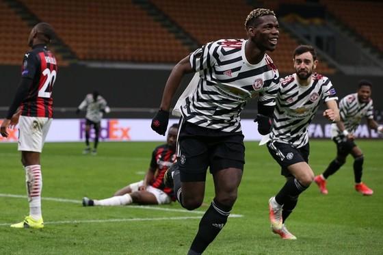Paul Pogba trở lại từ chấn thương đã ghi bàn thắng quyết định cho Man.United. Ảnh: Getty Images
