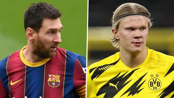 Lionel Messi mong chờ được chơi bóng cạnh Erling Haaland.