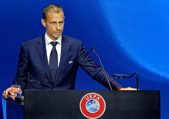 """Chủ tịch UEFA, Aleksander Ceferin sẽ mạnh tay trừng phạt các CLB """"ngoan cố"""". Ảnh: Getty Images"""