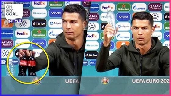 Hành động khó hiểu của Cristiano Ronaldo.