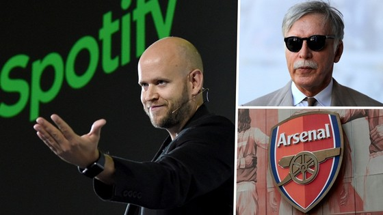 Tỷ phú Daniel Ek sẵn sàng nắm lấy mọi cơ hội để sở hữu Arsenal từ Stan Kroenke.