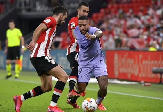 Memphis Depay không thể giúp Barca đánh bại đối thủ khó nhằn Bilbao.