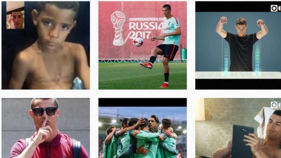 Instagram của Ronaldo đã không còn hình ảnh Real Madrid.