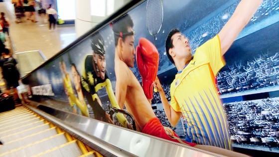 Không khí SEA Games 29 tràn ngập ở sân bay Kuala Lumpur - Malaysia  Ảnh: DŨNG PHƯƠNG
