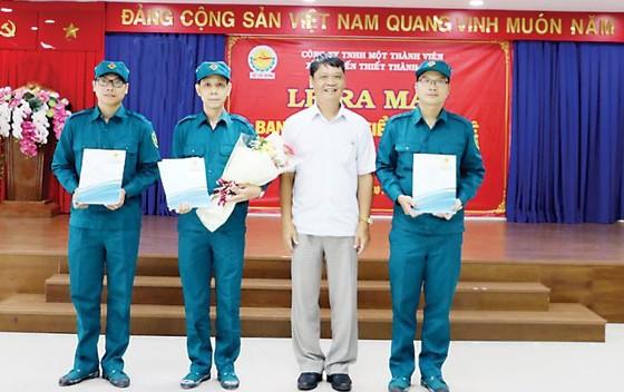 Lễ ra mắt Ban chỉ huy quân sự và tiểu đội tự vệ Công ty TNHH Một thành viên Xổ số kiến thiết TPHCM ảnh 1