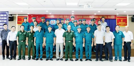 Lễ ra mắt Ban chỉ huy quân sự và tiểu đội tự vệ Công ty TNHH Một thành viên Xổ số kiến thiết TPHCM ảnh 3