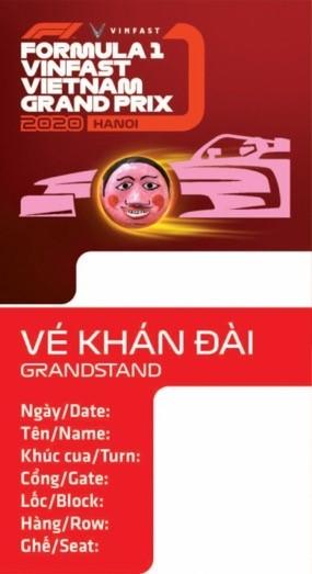 Chiếc vé F1 lấy cảm hứng từ các biểu tượng văn hoá Việt ảnh 2