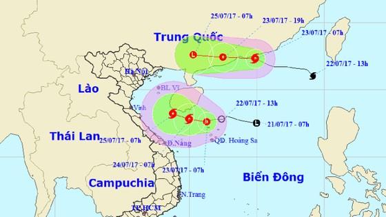 Tin mới nhất về áp thấp nhiệt đới trên biển Đông và cơn bão số 3 ảnh 1