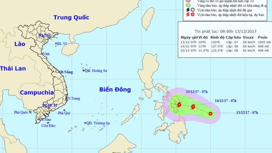 Xuất hiện áp thấp nhiệt đới gần biển Đông ảnh 1
