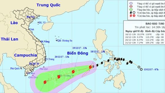 Bão Kai-tak đã vào biển Đông, trở thành cơn bão số 15 trong năm ảnh 1
