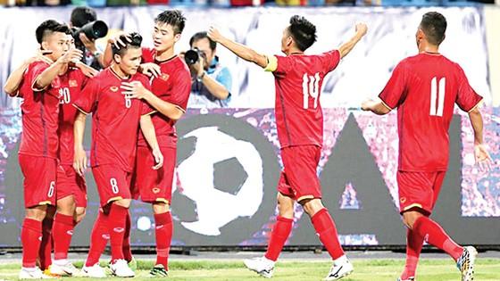 Olympic Việt Nam có sự khởi đầu thuận lợi tại giải. Ảnh: Minh Hoàng