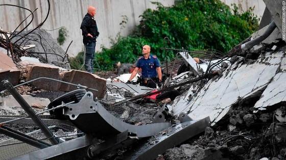 Lực lượng cứu hộ tìm kiếm người sống sót trong đêm trong vụ sập cầu cạn tại Italy ảnh 20