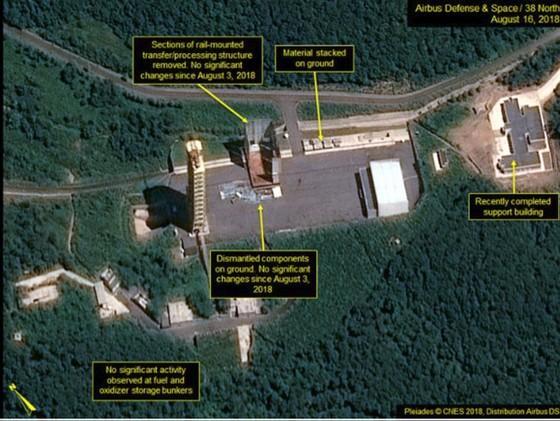 """38 North: Triều Tiên """"dường như"""" đã dừng tháo dỡ bãi thử nghiệm động cơ tên lửa Sohae ảnh 6"""