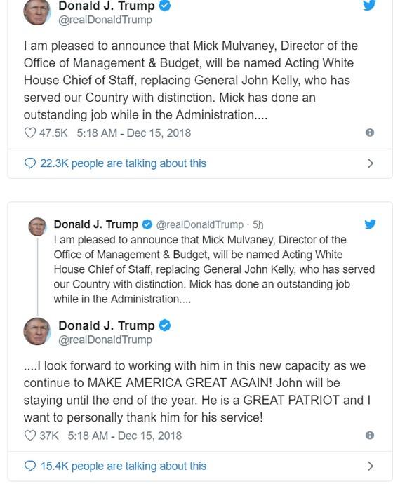 Tổng thống Mỹ bổ nhiệm quyền Chánh Văn phòng Nhà Trắng ảnh 2