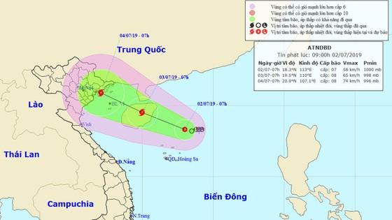 Đêm ngày 2-7, áp thấp nhiệt đới có khả năng mạnh lên thành bão ảnh 1