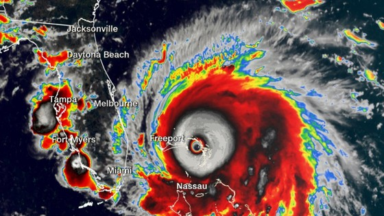 Siêu bão cấp 5 Dorian đổ bộ Bahamas ảnh 1