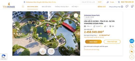 Vinhomes ra mắt sàn giao dịch bất động sản trực tuyến ảnh 4