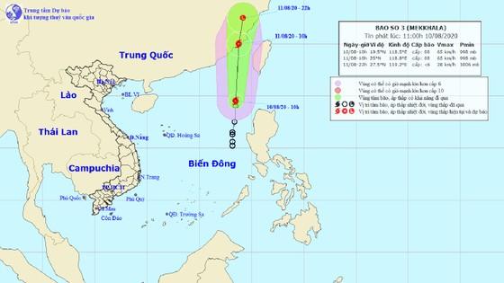 Áp thấp nhiệt đới đã mạnh lên thành cơn bão số 3, có tên quốc tế là Mekkhala ảnh 1