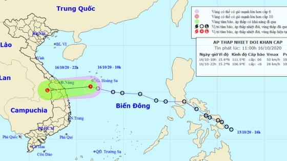 Từ trưa nay 16-10, áp thấp nhiệt đới đi vào đất liền các tỉnh Trung Trung bộ, gây mưa rất to ảnh 1