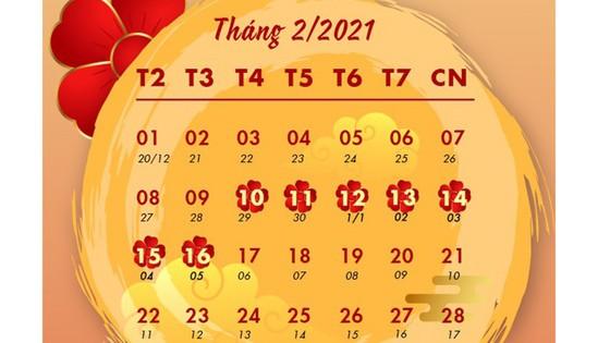 Tết Âm lịch 2021: Người lao động được nghỉ 7 ngày  ảnh 1