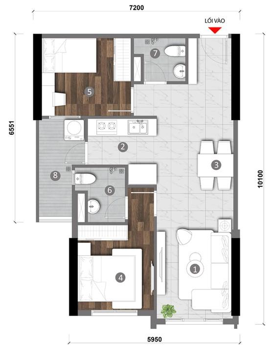 Tối đa hóa diện tích căn hộ nhờ… ban công ảnh 3
