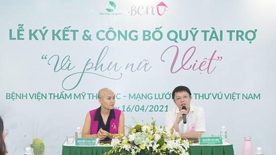 """Bệnh viện Thẩm mỹ Thu Cúc cùng Mạng lưới Ung thư vú Việt Nam thành lập quỹ """"Vì phụ nữ Việt"""" ảnh 2"""
